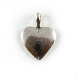 Charm School UK > Sterling Silver Charms > Love and Romance > Heart